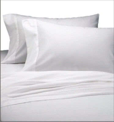 12 New 66X104  Bright White Twin Size Hotel Flat Sheets T-180 1St Quality