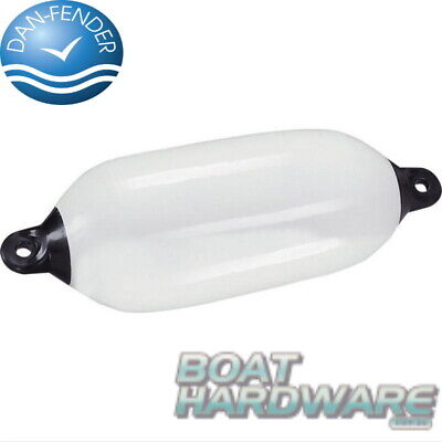Small Boat125x540mm Fender Bumper Flexible white vinyl Genuine Dan Fender