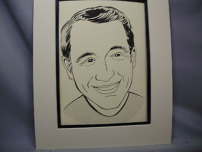 Perry Como Caricature Drawing from Studio 54 New York Famous Faces artist