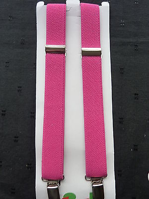 BRACES for BOYS/GIRLS/CHILDREN/KIDS -BRAND NEW - DEEP PINK- fit approx.1-6 yrs.