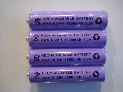 BT STUDIO 3100 3500 4100 4500 5100 5500  4x 1.2V 1800 mAh RECHARGEABLE BATTERIES