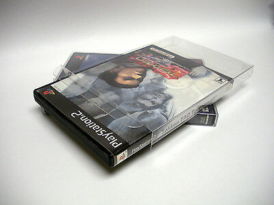 10 Clear Playstation 2 PS2 Game Case Box Protectors - Custom Fit - Acid-Free!