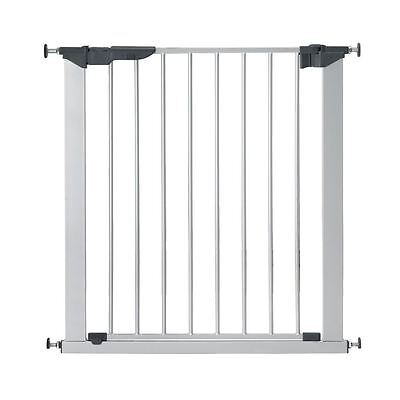 BabyDan Premier True Pressure Fit Baby Gate Silver - NO screws Stair Gate