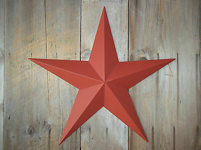 """Metal Star 16"""" Painted Solid Barn Red"""