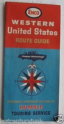 Enco Humble  Road Map For Western United States 1965