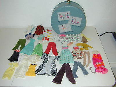 Vtg Barbie Lot Homemade Clothes Kitchen Littles Dishes Boot 1973 Baby B Case