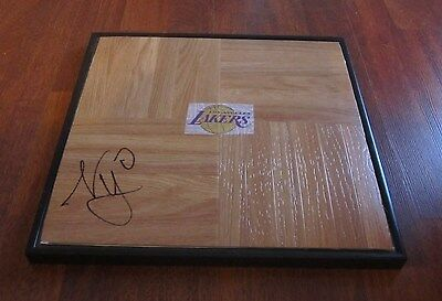 Nick Young Hand Signed & Framed Los Angeles Lakers Logo Floor Tile W/coa