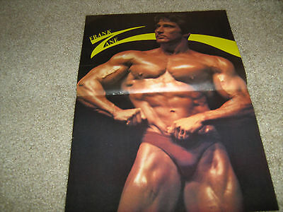 FRANK ZANE Mr Olympia/ Mr World Bodybuilding Color Poster