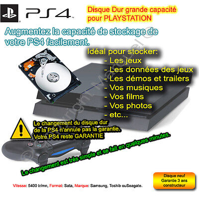 Disque dur 1000 Go 1 to  pour playstation 4 PS4 Sony