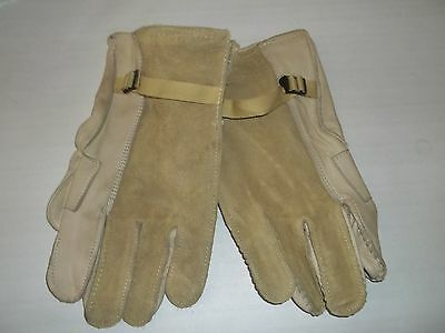 Heavy Duty Cattlehide LEATHER GLOVES Military RAPPELING Made in USA Sz 5 XL NEW