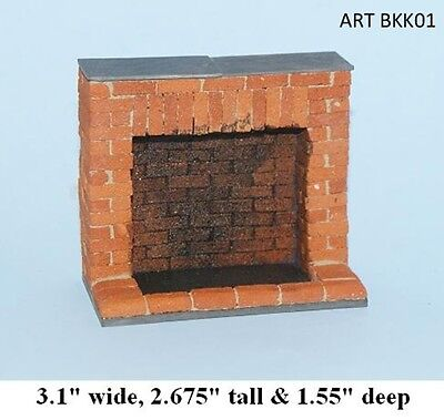 Brick Fireplace Kit Dollhouse Miniatures 1/12 Scale