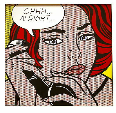 Roy Lichtenstein  Large PAINTING PRINT  24' vintage retro art
