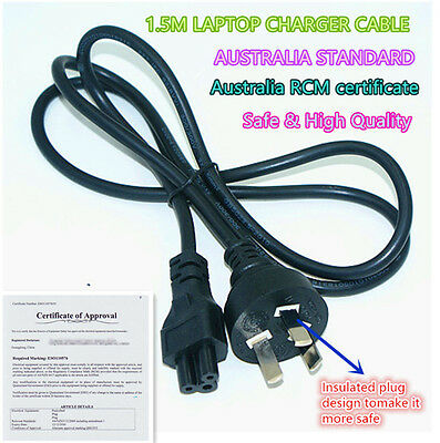 Laptop Power Cord Cable Lead 3 Pin Prong Adapter Charger HP/TOSHIBA/DELL/SONY