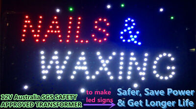 LED NEON NAILS OPEN for nails shop, business SIGN  SIZE: 48CM X 25CM