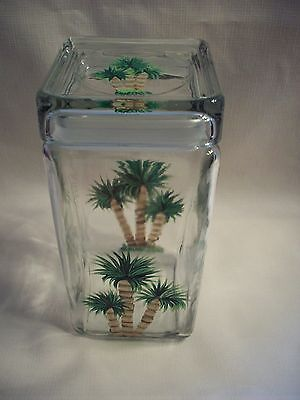 Hand painted Palm tree cookie jar