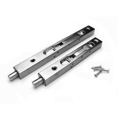304 Stainless Steel Security Door Guard Lever Action Flush Latch Slide Bolt Lock