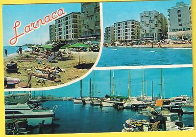 LARNACA EARLY 1980'S CYPRUS VINTAGE POSTCARD 20th CENT. VARIUS VIEWS, UNPOSTED