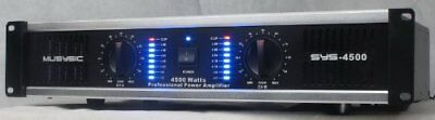 MUSYSIC 2 Channel 4500 Watts Professional Power Amplifier AMP DJ Stereo SYS-4500