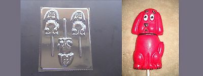 Clifford Big Red Dog Lollipop Chocolate Candy Soap Crayon  Mold