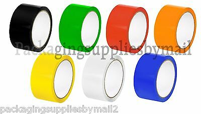 "Colored Carton Sealing Packing Tape 2"" x110 yds 2 Mil Choose your Colors & Rolls"