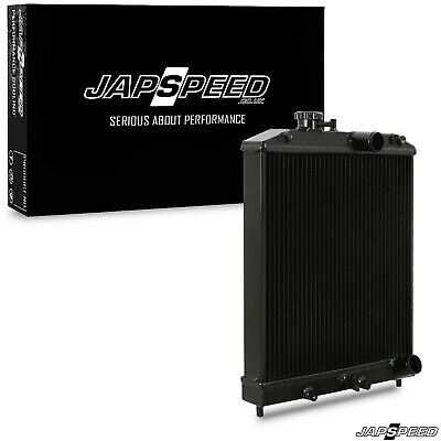 Japspeed Black Edition Alloy Race Radiator Rad For Honda Civic Ek Ej Eh 88-00