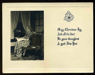 Vintage 1940's Christmas Real Photo Greeting Card
