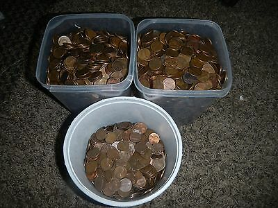 5000 50$ Lincoln Cents Pennies Copper Bullion 34+ Lbs 1959-1982 Penny Lot Pile