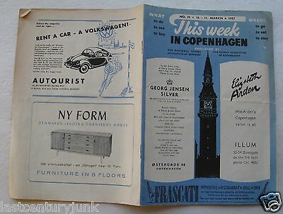 Booklet For This Week In Copenhagen March 1957