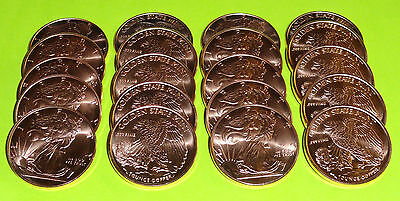 20 - Walking Liberty American Eagle Coins 1 oz each .999 Copper Bullion 10-100