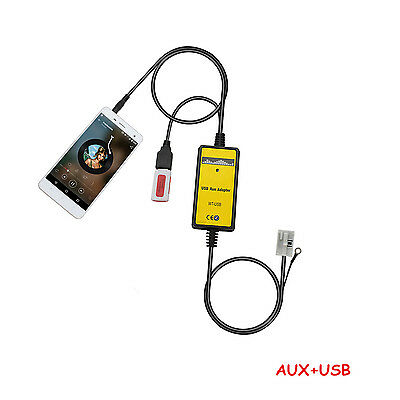 Auto Interface USB MP3-Player AUX In Adapter für VW Skoda Seat Quadlock 12Pin