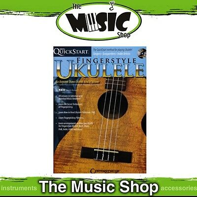 New Kev's Quickstart for Fingerstyle Ukulele Tuition Book with CD