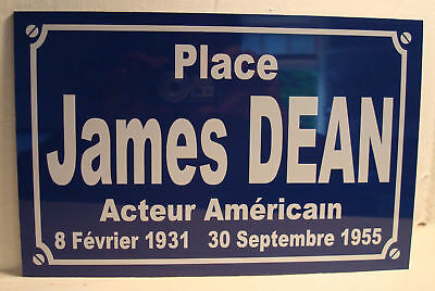 PLAQUE de Rue James DEAN