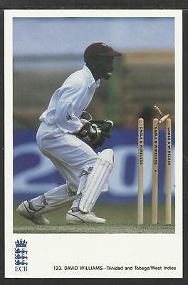 DAVID WILLIAMS (TRINIDAD/TOBAGO, WEST INDIES). CLASSIC CRICKET POSTCARD No. 123