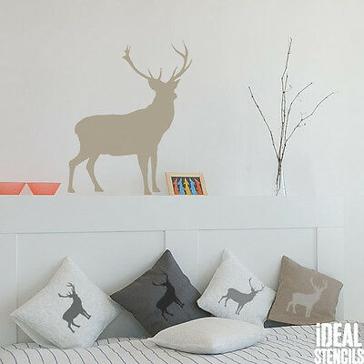 Stag deer silhouette Stencil Reusable Home Wall Decor Art Craft Paint Stencils