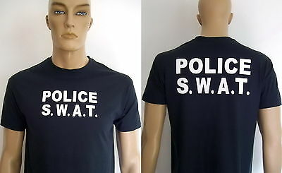 POLICE - S.W.A.T. / T-Shirt marineblau (navy blue) / Text 2 Varianten, S bis 3XL