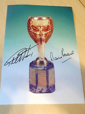 Signed Sir Geoff Hurst & Martin Peters England 1966 World Cup 12x8 Photo - C.O.A