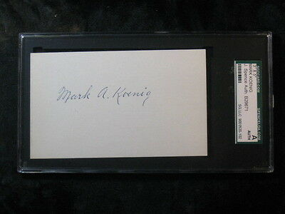 Bill Terry Autographed Signed 3 x 5 Index Card SGC/JSA Authentic