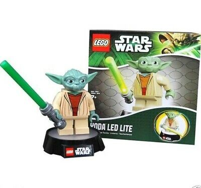 "Star Wars Yoda 6"" Figure LED LITE Lamp & Nightlight Style 1 LEGO 2013 NEW UNUSED"