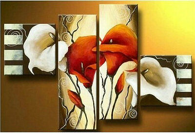 Hot sell new 4pc Huge WALL Modern Abstract on Canvas decorative Oil Painting