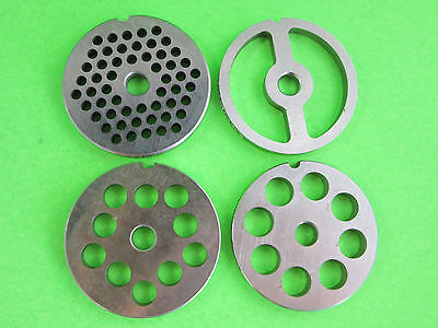 COMBO SET 4 grinding plates fits Chefs Choice meat grinder for Kitchenaid