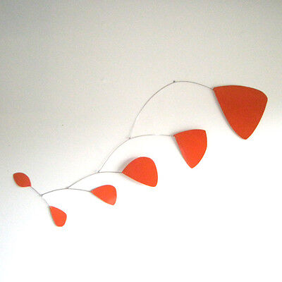 Abstract Modern Pilot Orange Hanging Mobile Painted Hand Made New Free Shipping