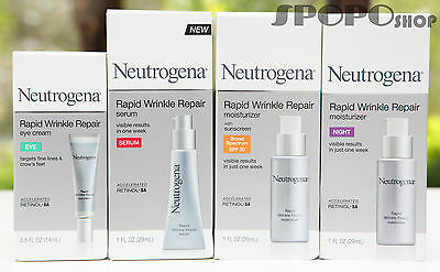 Neutrogena Rapid Wrinkle Repair Eye Cream / Serum / Day /  Night Moisturizer