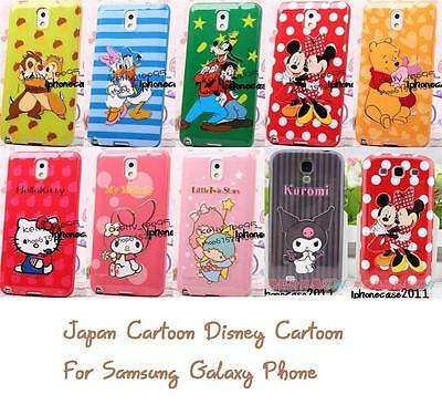 3D Japan Cartoon Disney TPU Soft Back Full Case Cover For Samsung Galaxy Phone