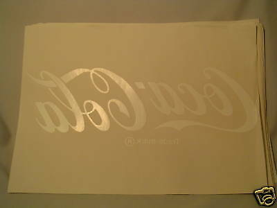 COCA COLA Wh. Stencil/Decal Logo For Display, White Plastic Letters Various uses