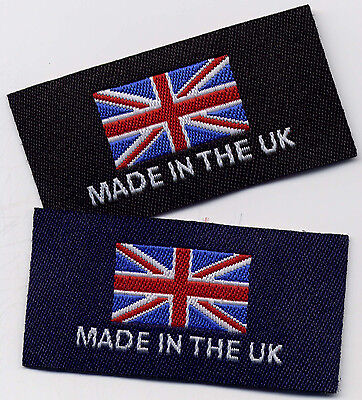 Woven Garment Labels Made in The UK 25mm x 50mm, Pack of 10