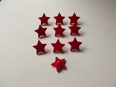 Sewing Buttons 10 x MINT GREEN STAR SHAPED BUTTONS approx 15mm point to point ~ CRAFT/FASHION
