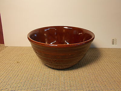 "Vintage Marcrest Pottery Daisy Dot Brown 8"" Mixing Bowl"