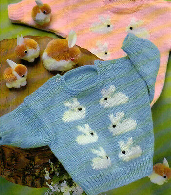 Baby boy or Girl Bunny Rabbit sweater Knitting pattern- chest 18-20