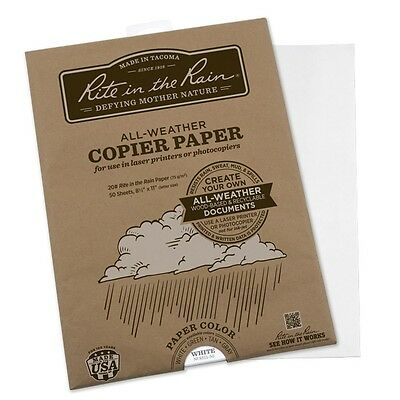 "Rite in the Rain 8511-50 All-Weather Copier Paper, 8.5"" x 11"" - 50 Sheets"