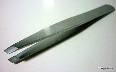 Brand New Eyebrow Tweezer Plucker Puller Slant Tip, Stainless Steel!! Beauty